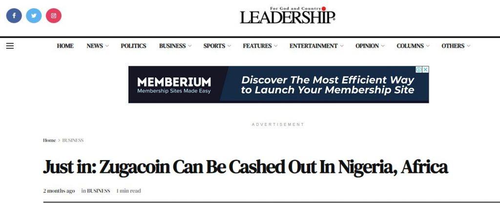 leadership zugacoin