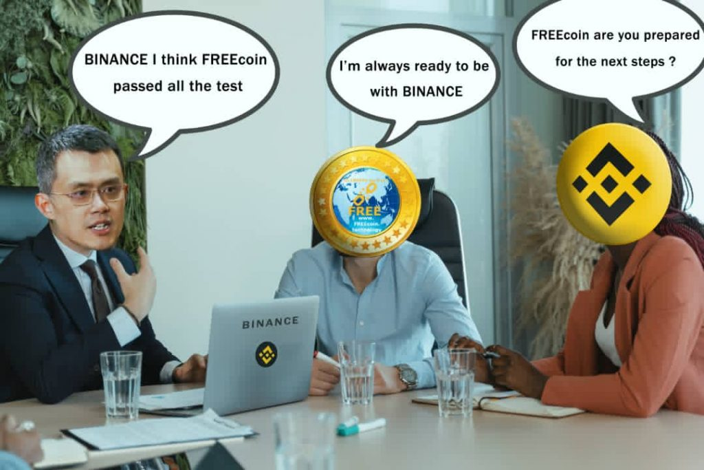 when will free coin be listed on binance