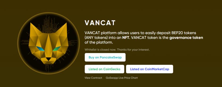 vancat token price prediction